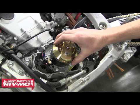 How To Install a Steahly Flywheel Weight - 2009 YZ250F Dirt Bike