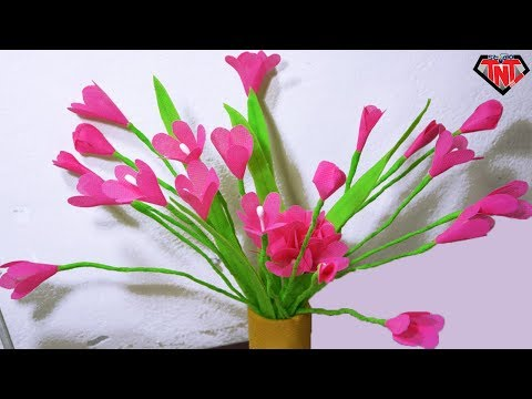 DIY Craft Shopping Bag Onion Grass Flower || Best out of Waste Carry Bag