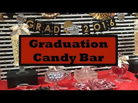 High School Graduation Party Ideas + Candy Bar
