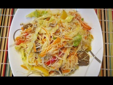 Healthy Plant-Based Stir Fry in Under 10 minutes | Rice Noodle Veggie Stir Fry