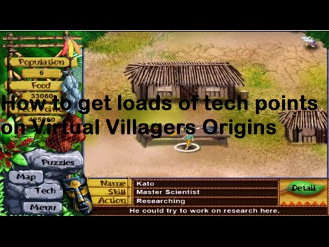How to get loads of tech points: virtual villagers