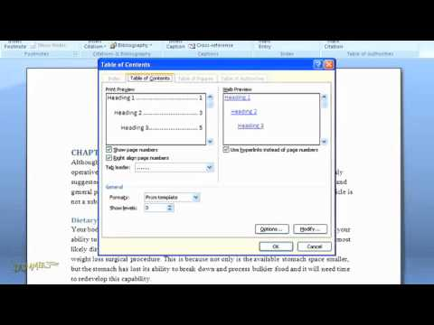 How to Create a Table of Contents in Word 2007 ThePakadmin