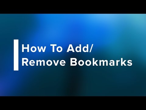 How to Add/Remove Bookmarks in Safari