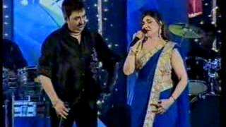 .alka yagnik and kumar  kabi alvida na kehna  hum tv part3 umair rehman flv