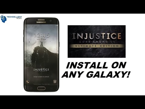 INSTALL BATMAN INJUSTICE EDITION THEME ON ANY SAMSUNG GALAXY! NO ROOT!