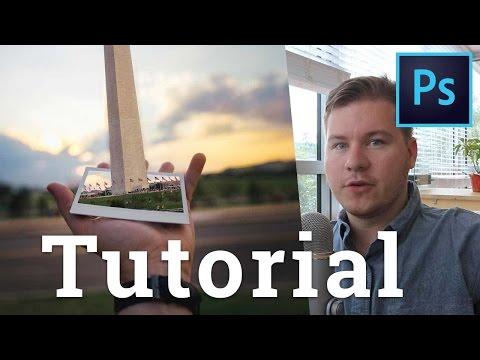 How to Put the Washington Monument in a Polaroid [Photoshop Tutorial]