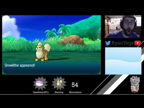 Shiny Growlithe in just 54 encounters in Pokemon Sun and Moon