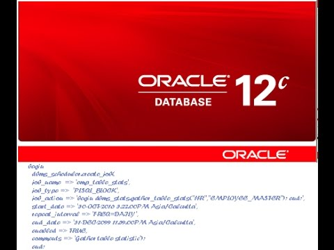 How to create and monitor scheduled jobs in Oracle