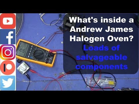 Whats inside a Andrew James Halogen Oven? Loads of salvageable components