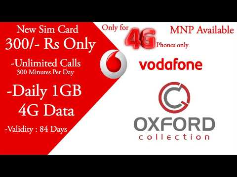 Vodafone New Sim Card Bumper Offer - Oxford Collection