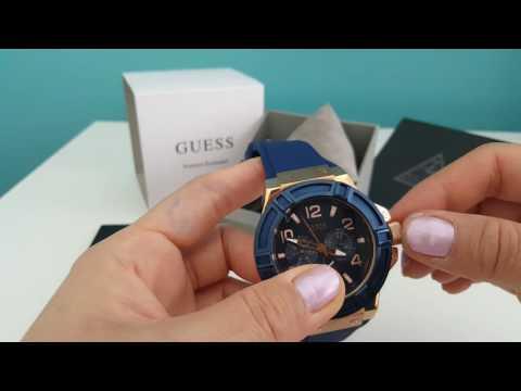 Review Guess Men watch Blue strap Chron Blue Dial W0247G3