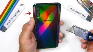 Galaxy A50 Durability Test! - is the Plastic Samsung Phone durable?