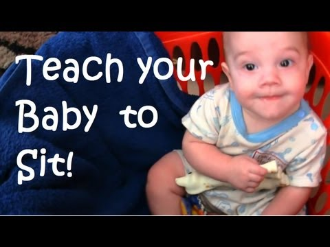 Teach your Baby to SIT UP alone - Alternative to Expensive Chairs