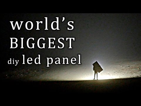 The largest LED panel I've built so far...