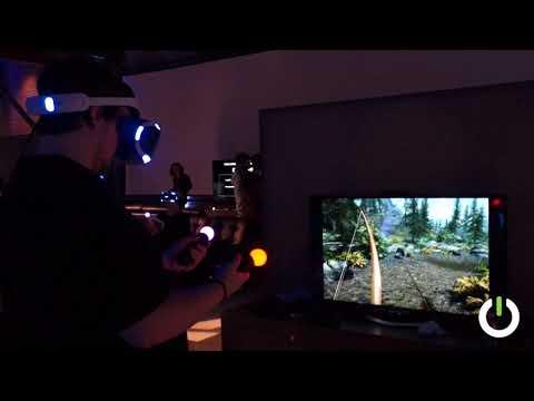 Skyrim VR (Bethesda) PSVR Move Controller Smooth Locomotion Gameplay