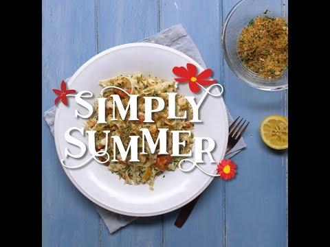 Spicy Summer Garlic Prawn Fettucine - Simply Summer