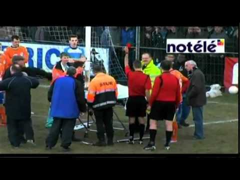 Referee Gives Soccer Player That's on a Stretcher Red Card, For Faking!