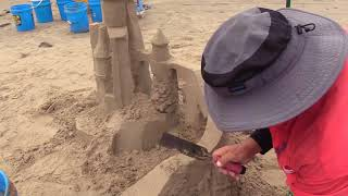 Sandcastle Shaping with 2 simple tools #3