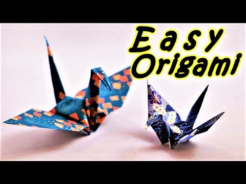 Origami Bird: How To Make a Paper Bird - Easy Origami Tutorial Step By Step #DIY