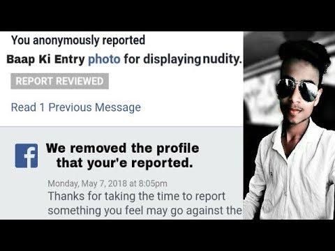 How to delete fake facebook account in just one report | Ek report me fake account udda de | 2018