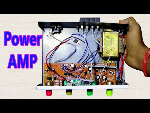 How To Make An Power Amplifier At Home