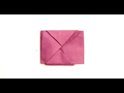 How to Fold Paper Into a Secret Note Square