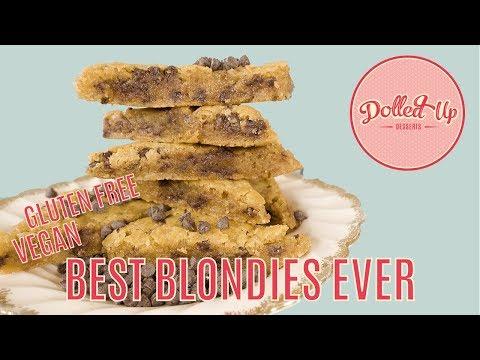 Best Butterscotch White Chocolate VEGAN Blondies Recipe Ever | Dolled Up Desserts