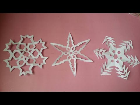 How to make Paper SNOWFLAKES PATTERNS - DIY Christmas - Easy - PaperMade