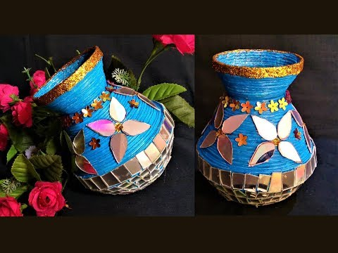 DIY - Newspaper & Old CD Decorative Pot / DIY Flower vase / DIY Pen Stand / Best out of waste
