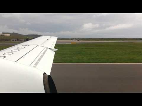 Flybe Saab 340 G-LGNA Landing at Sumburgh, Shetland Islands