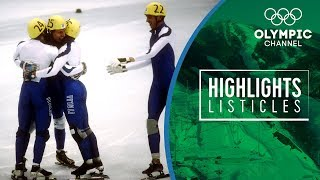 Top 5 most stunning moments in Olympic Short Track Speed Skating  | Highlights Listicles