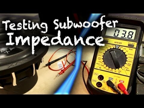 How to Test Subwoofer Impedance with Multimeter | Car Audio 101