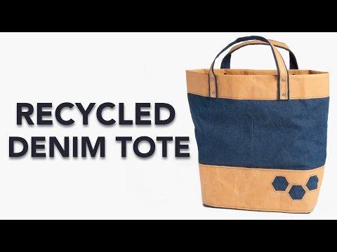 FREE Pattern: Recycled Denim Tote