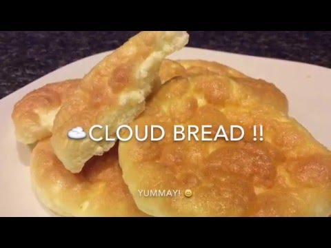CLOUD BREAD 3 ingredients! ☁️☁️☁️