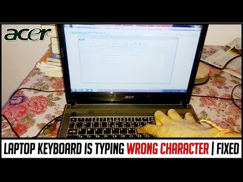Laptop keyboard typing wrong character | How to repair Acer laptop keyboard & disable fn key from os