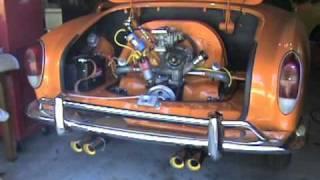 1971 Volkswagen Karmann Ghia Engine Start