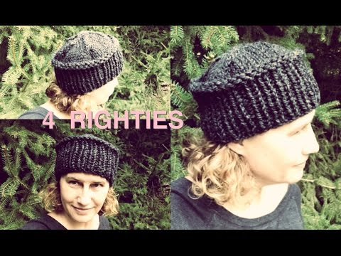 How 2 Knit Hat With Flat Top - Fast Project 4 RIGHTIES