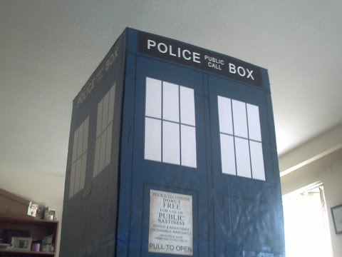 Homemade Cardboard Doctor Who TARDIS
