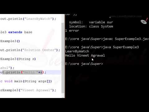 What is Super Keyword in JAVA (Example1) | Learn JAVA with Practical Examples | Vineet Agrawal