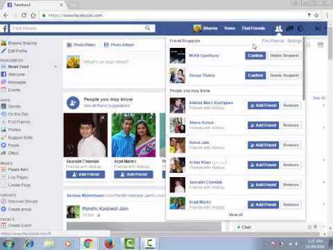 How to accept and reject friend request in FB