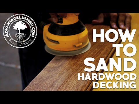 How To Sand Hardwood Decking