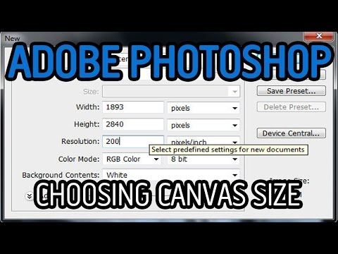 PHOTOSHOP TUTORIAL - CHOOSING YOUR CANVAS SIZE TO WORK ON - CS5, HD