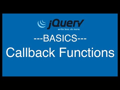 jQuery Basics Tutorial 11 - Callback Functions