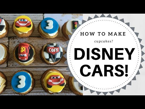 How to make Disney Cars Lightning McQueen cupcakes? (3 mins) | Irma's Fondant Cakes