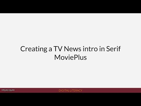 Shiplake News (2018): Creating a TV News title sequence in Serif MoviePlus