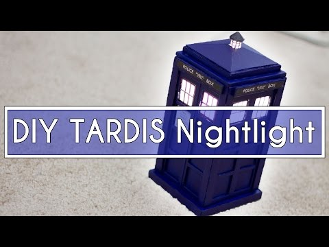 DIY Doctor Who TARDIS Nightlight!! ► JamesChats