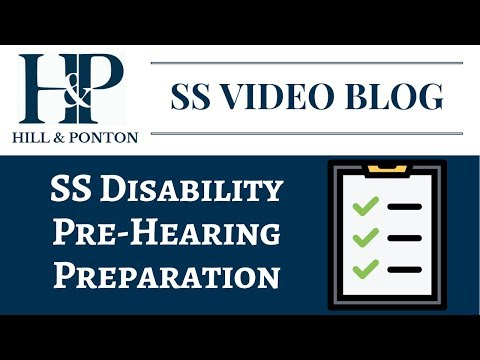 SS Pre-Hearing Preparation