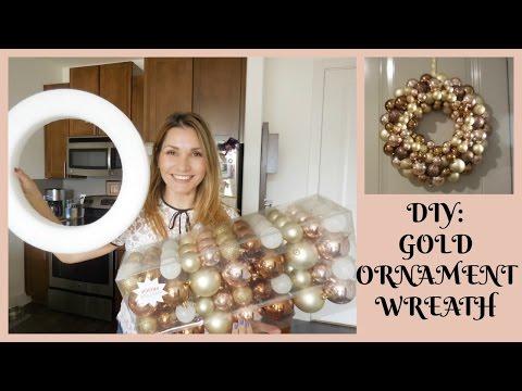 DIY Gold Christmas Wreath