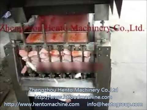 Frozen Meat Cutting Machine cut large frozen meat block into small cubes