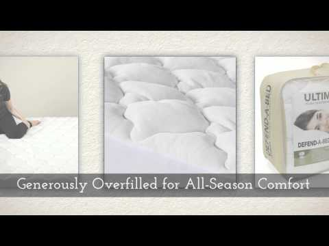 Classic Brands Defend-A-Bed Ultimate Extra Plush Double Thick Bamboo-Rayon Fitted Water...